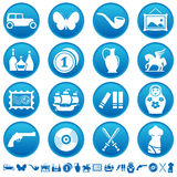 Collecting and hobby icons. Set of collecting and hobby icons Royalty Free Stock Photos