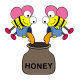 Collecting honey Stock Images