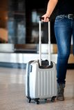Collecting luggage at the airport Royalty Free Stock Photography