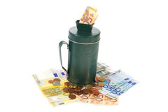 Collecting money Stock Images