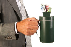 Collecting money Royalty Free Stock Image
