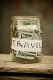 Collecting money for travel. Royalty Free Stock Photo
