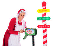 Collecting Santa's Mail Royalty Free Stock Image