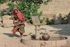 Collecting Water in India 3 Stock Photo