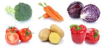 Collectio fresco delle patate delle carote del peperone dolce dei pomodori delle verdure Immagini Stock Libere da Diritti