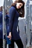 Collectio van de de damelente spiegel van de achtergrondportret mooie vrouw Stock Fotografie