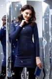 Collectio van de de damelente spiegel van de achtergrondportret mooie vrouw Stock Foto