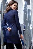 Collectio van de de damelente spiegel van de achtergrondportret mooie vrouw Royalty-vrije Stock Foto