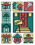 Collection à la maison 2 de logos Illustration Libre de Droits