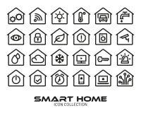 Collection à la maison futée d'icône illustration de vecteur