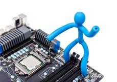 Collection électronique - installation de processeur Image stock