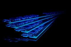 Collection électronique - modules de mémoire à accès sélectif d'ordinateur (RAM) Images libres de droits