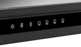 Collection électronique - RO sans fil noir de Wi-Fi de réseau Internet Image stock