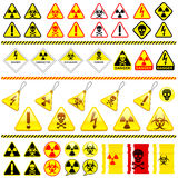 Collection énorme de graphisme de symbole de danger Photo stock
