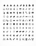 Collection 100 vector icons Stock Photo