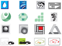 Collection of 16 vector-icons. Collection of 16 colorful abstract vector-icons Royalty Free Stock Photography