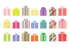 Collection of 2d presents. Vector illustration Royalty Free Stock Photo
