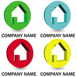 Collection of 3D logos for real estate Stock Images