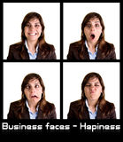 Collection of 4 businesswoman portraits Stock Image