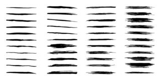 Free Collection 44 Black Dirty Design Element. Grunge Brush Stroke, Paint Artistic Set. Grunge Texture Collection. Stock Images - 143490314