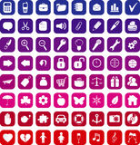 Collection of 64  icons Royalty Free Stock Images