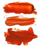 Collection of abstract acrylic brush strokes blots Stock Photos