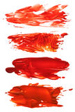 Collection of abstract acrylic brush strokes blots Royalty Free Stock Photography