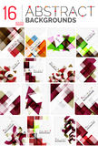 Collection of abstract backgrounds Royalty Free Stock Image