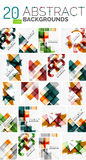 Collection of abstract backgrounds Royalty Free Stock Photography