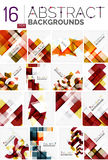Collection of abstract backgrounds Royalty Free Stock Photos