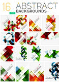 Collection of abstract backgrounds Stock Photos