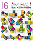 Collection of abstract backgrounds Stock Photography