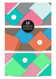 Collection of abstract backgrounds UI material Royalty Free Stock Photos