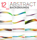 Collection of abstract backgrounds Stock Photo