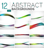 Collection of abstract backgrounds Royalty Free Stock Photo
