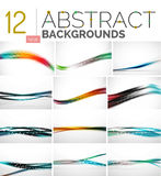 Collection of abstract backgrounds Stock Image