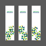Collection of abstract banner with Brazil flag color. Collection of abstract banner design with Brazil flag color concept Stock Image
