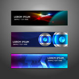 Collection abstract banner design. Horizontal,  illustration Royalty Free Stock Photos