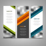 Collection abstract banners with color helical stripes template Royalty Free Stock Photography