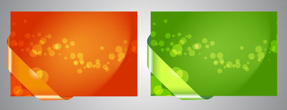 Collection of abstract bokeh backgrounds Royalty Free Stock Photography