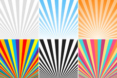 Collection of abstract colorful striped backgrounds. Royalty Free Stock Photo