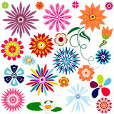 Collection abstract flowers Royalty Free Stock Image