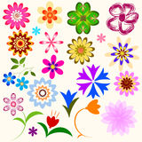 Collection abstract flowers (vector) Stock Photo