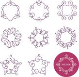 Collection of abstract geometrical icons, elements Stock Image