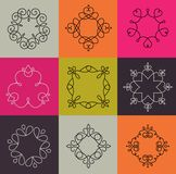 Collection of abstract geometrical icons, elements Royalty Free Stock Photo