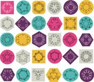 Collection of abstract geometrical icons, elements Royalty Free Stock Photography
