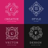Collection of abstract geometrical icons, elements Stock Photos