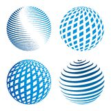 Collection of abstract globe icons Stock Images