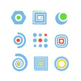 Collection of abstract icons Royalty Free Stock Photo