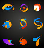 collection of abstract icons Royalty Free Stock Image